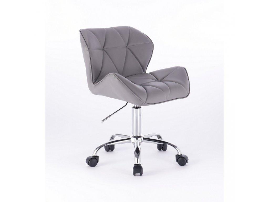 Kosmetická židle MILANO na základní podstavě s kolečky - šedá