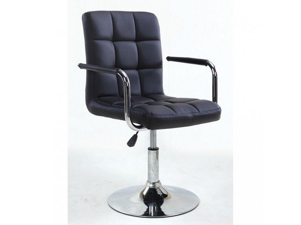 Kosmetická židle VERONA na kulaté podstavě - černá