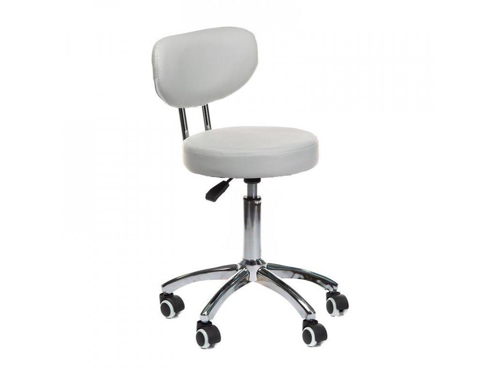 Pracovní židle / taburet BARI - šedá