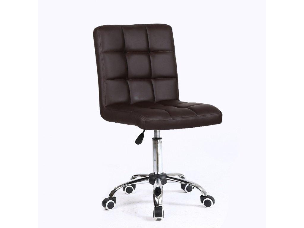 Židle na kolečkách TOLEDO - hnědá