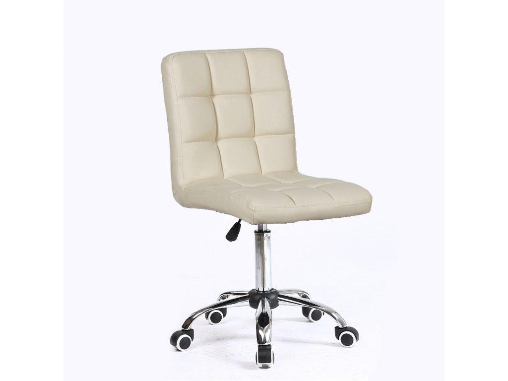 Židle na kolečkách TOLEDO - krémová