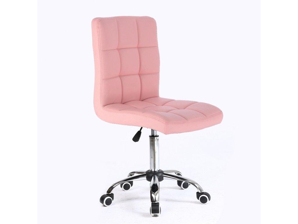Židle na kolečkách TOLEDO - růžová