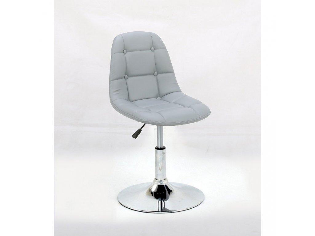 Židle na kulaté podstavě LAGOS - šedá