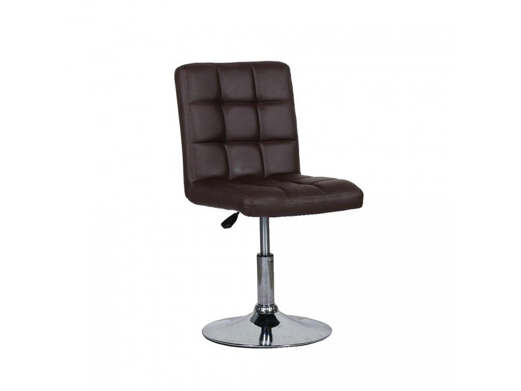 Židle na kulaté podstavě TOLEDO - hnědá