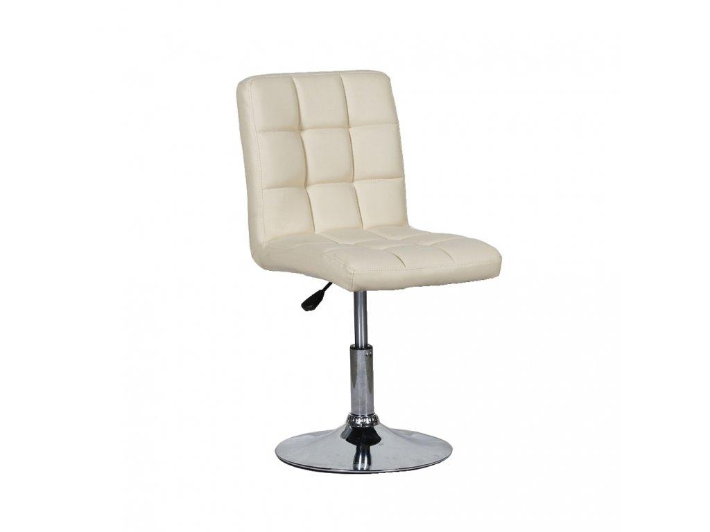 Židle na kulaté podstavě TOLEDO - krémová