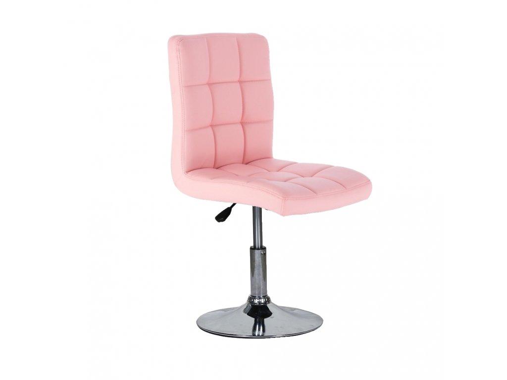 Židle na kulaté podstavě TOLEDO - růžová