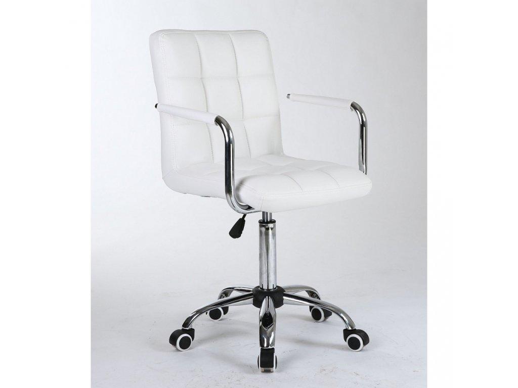Židle na základní kolečkové podstavě VERONA - bílá