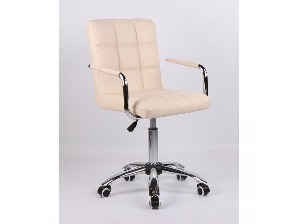 Židle na základní kolečkové podstavě VERONA - krémová