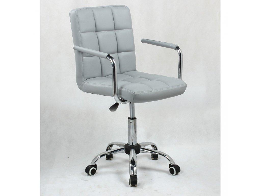 Židle na základní kolečkové podstavě VERONA - šedá