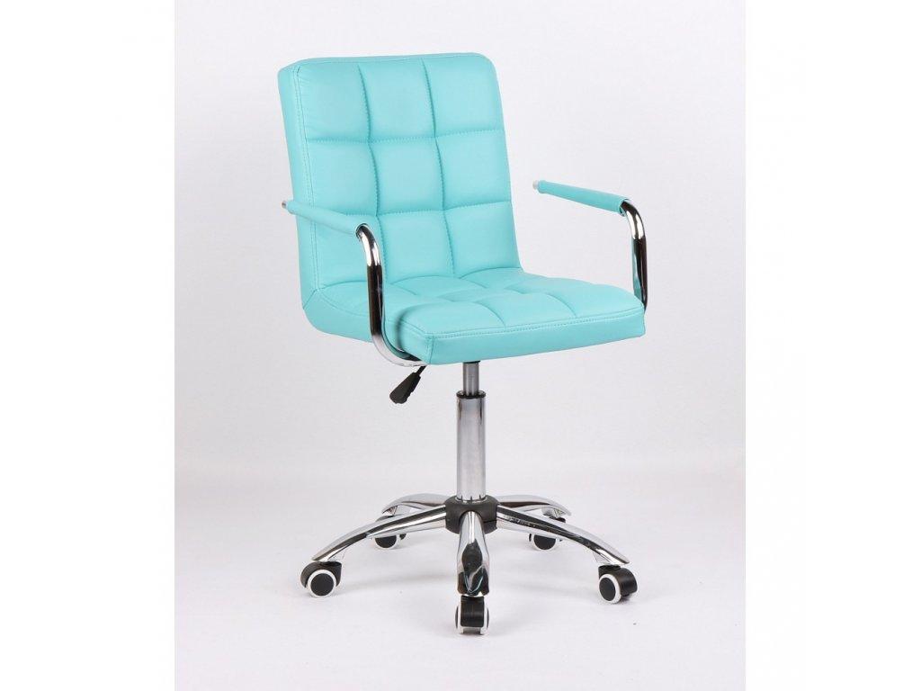 Židle na základní kolečkové podstavě VERONA - tyrkysová