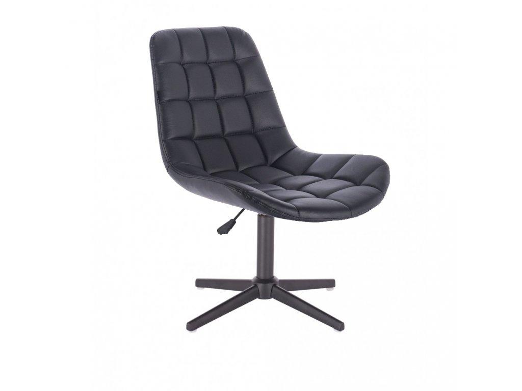 Židle PARIS na černé křížové podstavě - černá