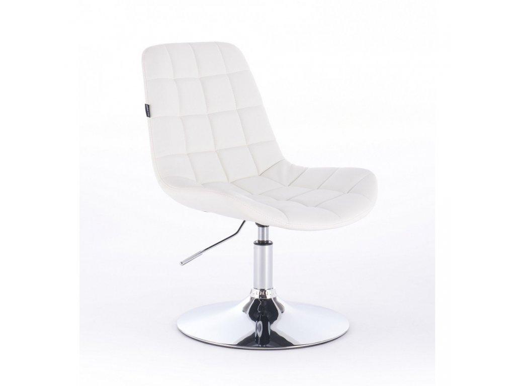 Židle PARIS na kulaté podstavě - bílá
