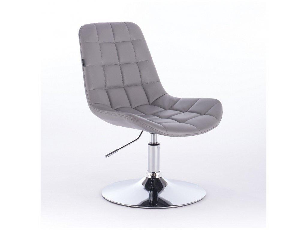 Židle PARIS na kulaté podstavě - šedá