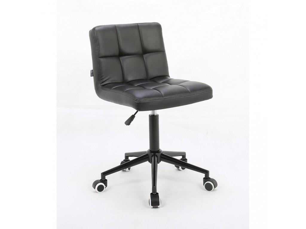 Židle ODESA na černé kolečkové podstavě - černá