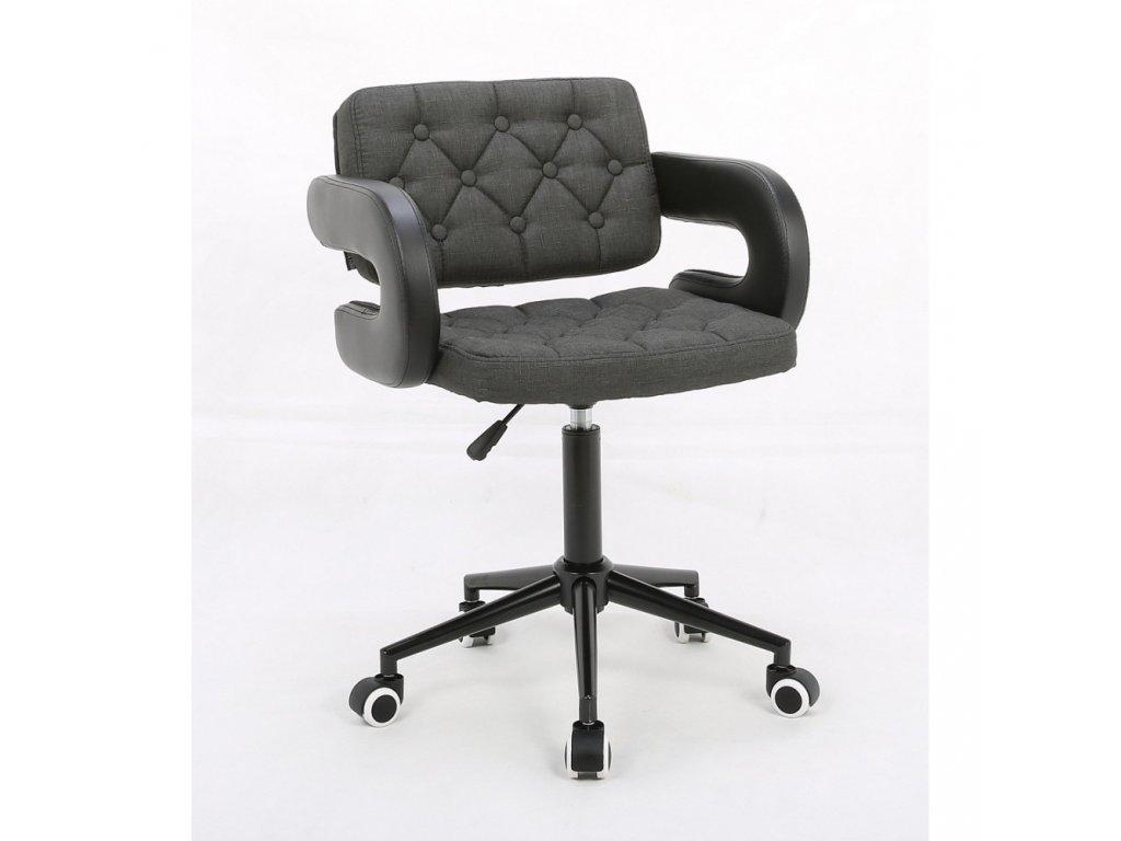 fotel hr8403k grafitowy tkanina