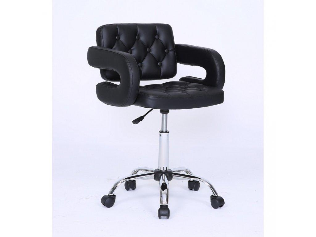 Židle Stockholm na kolečkách - černá