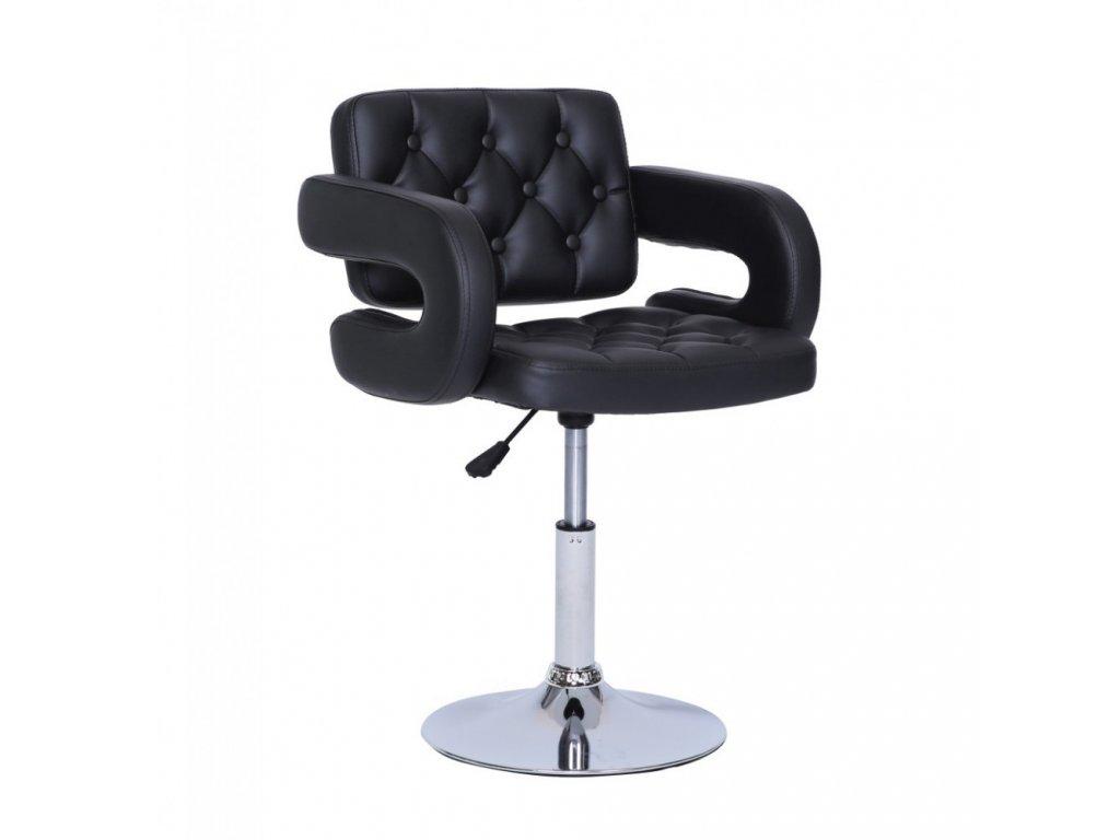 Židle Stockholm na kulaté podstavě - černá
