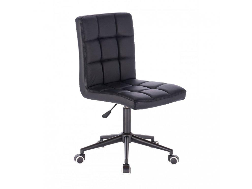 Židle TOLEDO na černé kolečkové podstavě - černá
