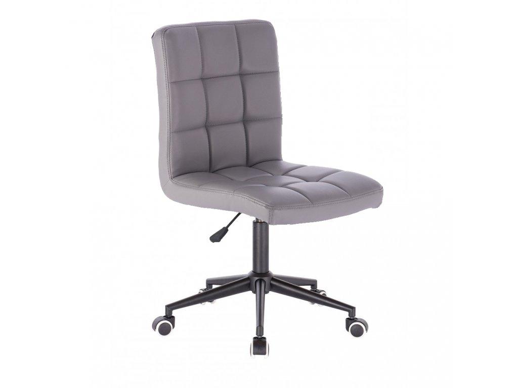 Židle TOLEDO na černé kolečkové podstavě - šedá