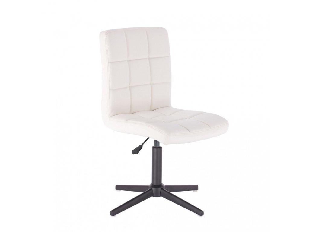 Židle TOLEDO na křížové podstavě - bílá