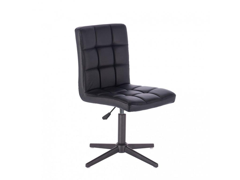 Židle TOLEDO na křížové podstavě - černá