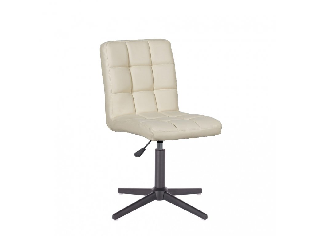 Židle TOLEDO na křížové podstavě - krémová