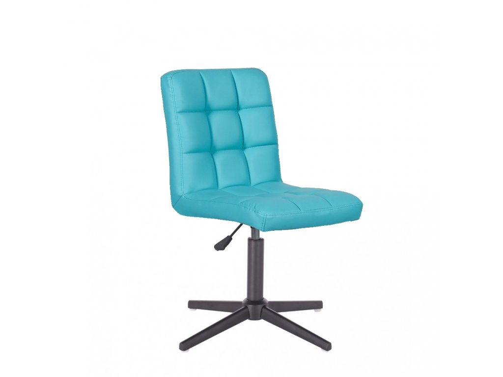 Židle TOLEDO na křížové podstavě - tyrkysová