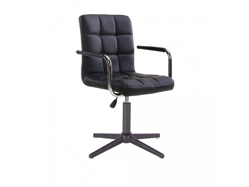 Židle VERONA na černé křížové podstavě - černá