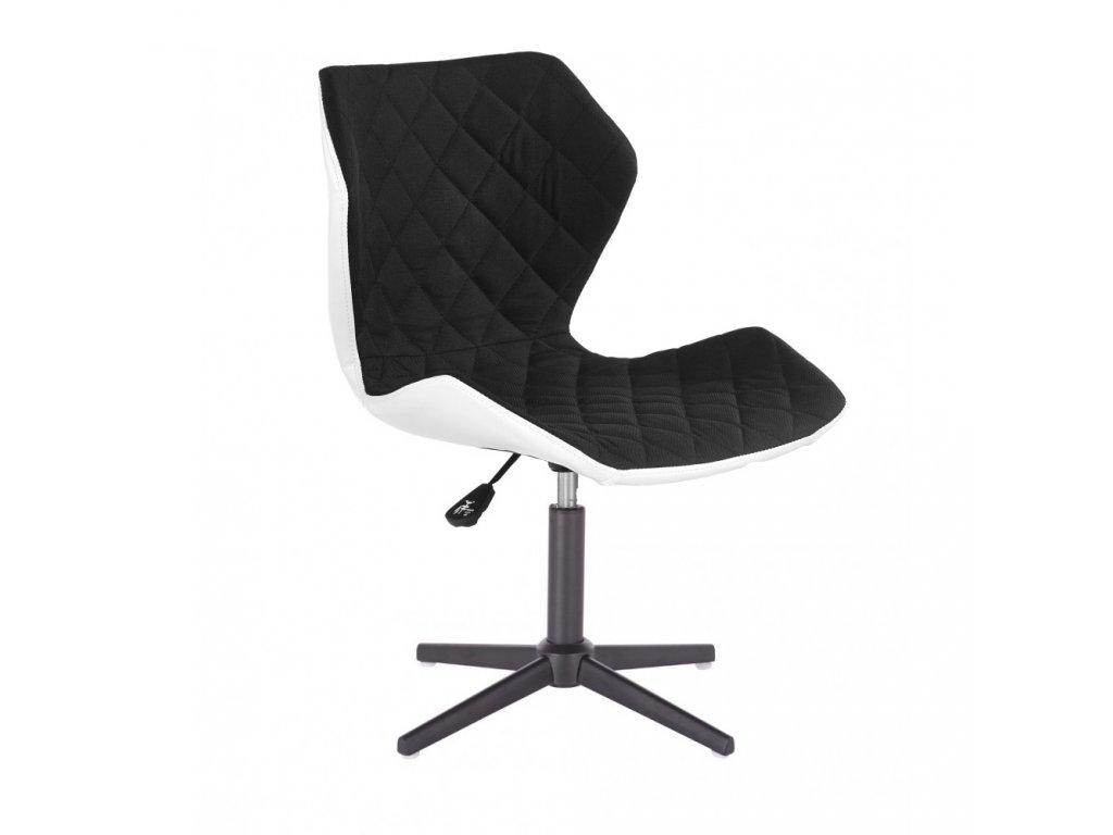 Židle MATRIX na černé čtyřramenné podstavě - černá