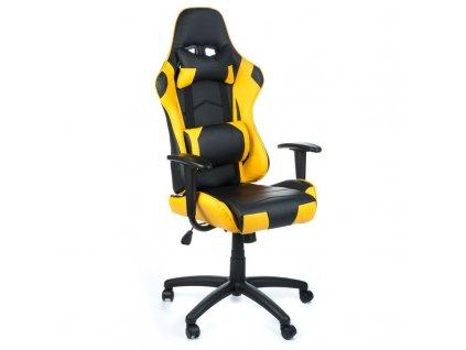 Herní židle FIGHTER - žlutá
