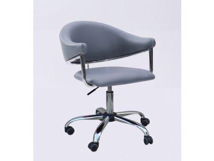 Kosmetická židle BERLIN na kolečkách - šedá