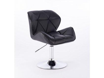 Kosmetická židle MILANO kulaté podstavě - černá