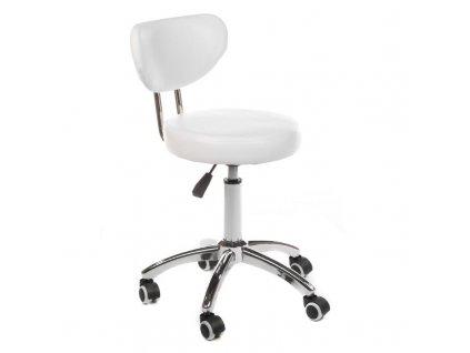 Pracovní židle / taburet BARI - bílá