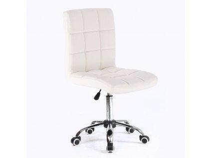 Židle na kolečkách TOLEDO - bílá