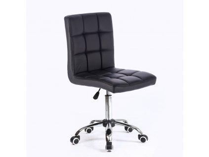 Židle na kolečkách TOLEDO - černá