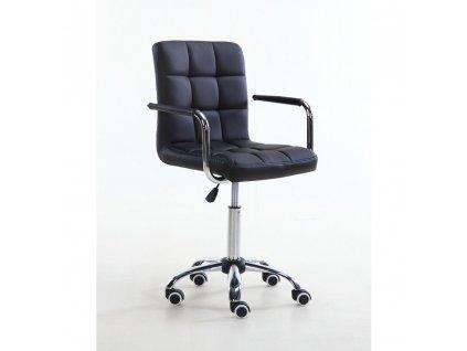 Židle na základní kolečkové podstavě VERONA - černá