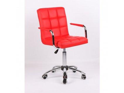 Židle na základní kolečkové podstavě VERONA - červená