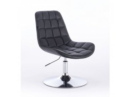 Židle PARIS na kulaté podstavě - černá
