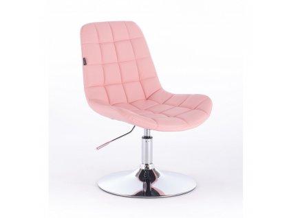 Židle PARIS na kulaté podstavě - růžová