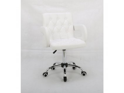 Židle SOFIA na kolečkách - bílá