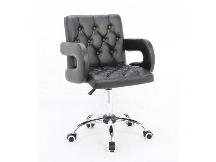 Židle SOFIA na kolečkách - černá