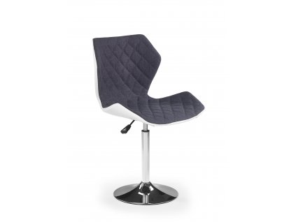 Židle MATRIX na kulaté podstavě - šedá