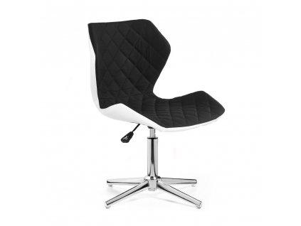 Židle MATRIX na stříbrné čtyřramenné podstavě - černá