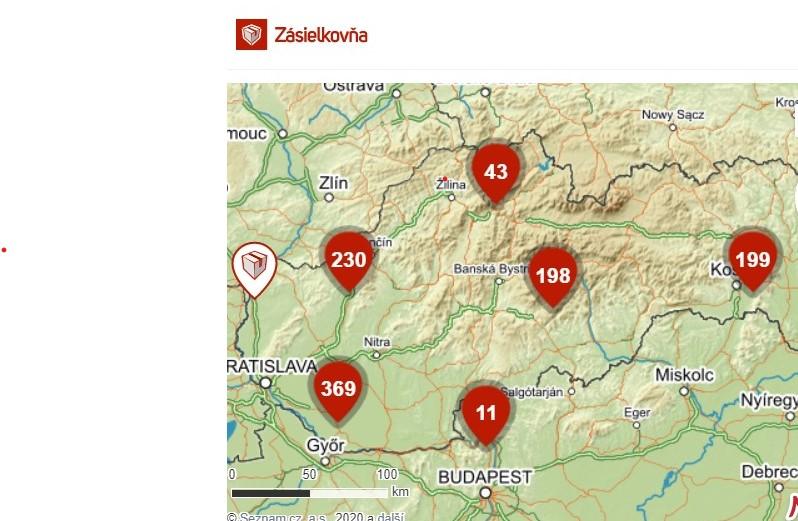 Doručení na Slovensko skrze Zásilkovnu