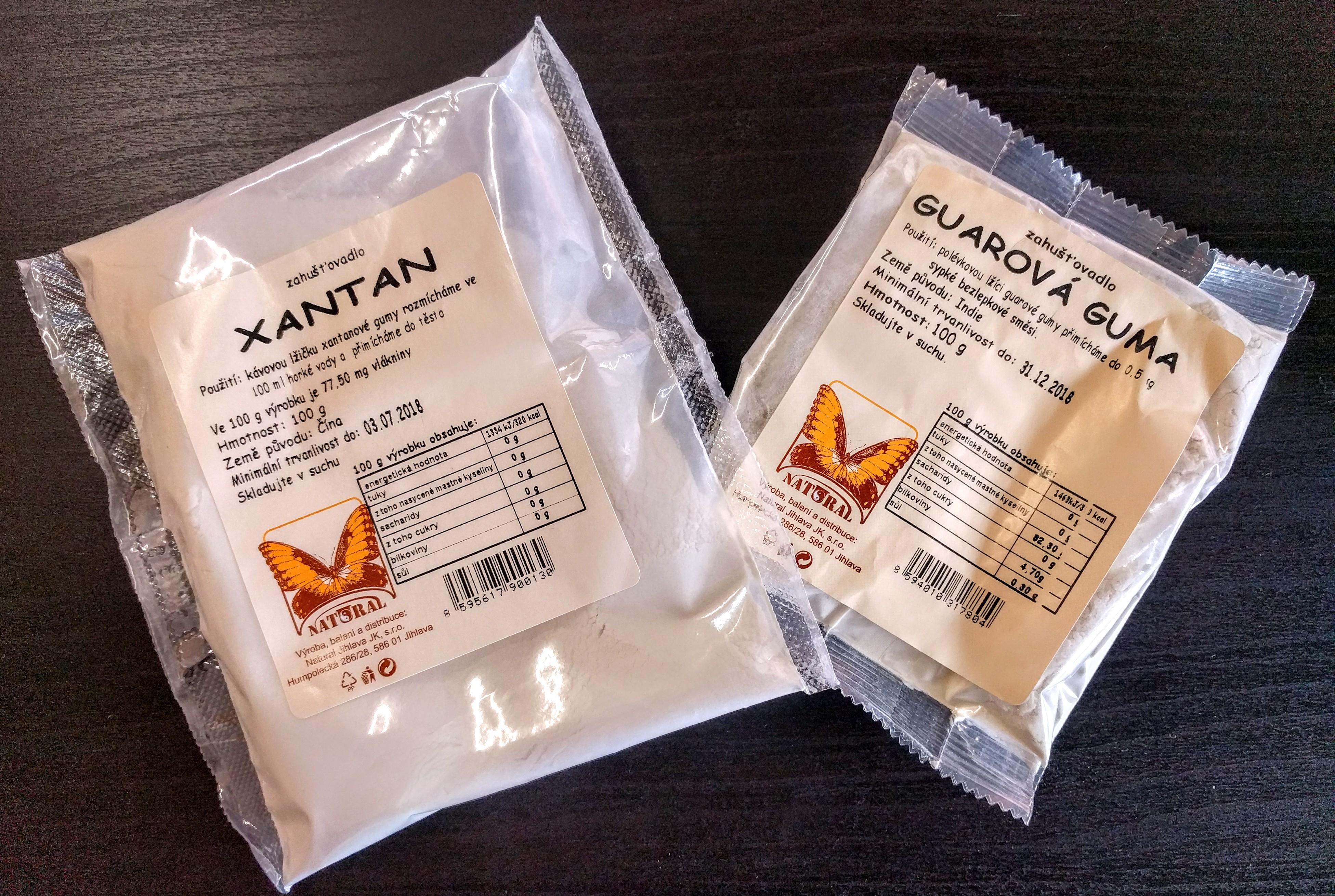 Co je xanthan a guma guar a jaká je jejich úloha v bezlepkových potravinách?