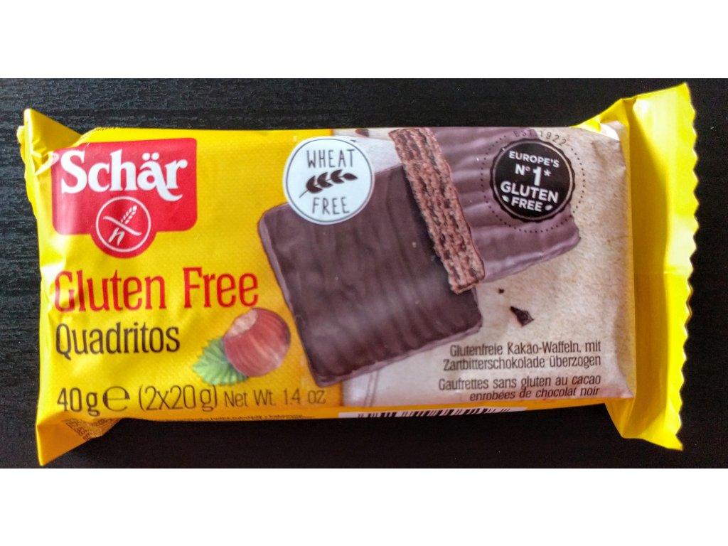 Schär Quadritos 40g- bezlepkové sušenky