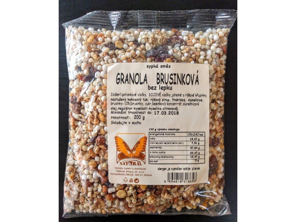 granola brusinka