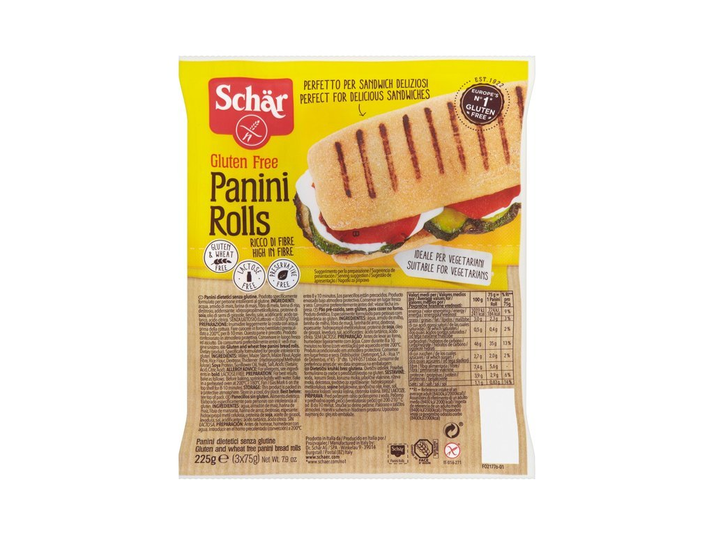 Schaer panini rolls 225g