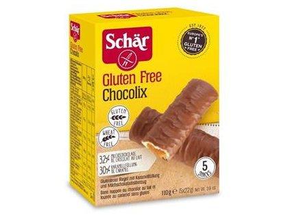Schar Chocolix 110g (5x22g)- bezlepkové oplatky plněné karamelem