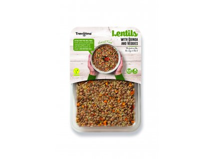Lentils with Quinoa & Veggies